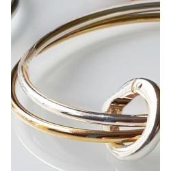Bracelet 2 joncs bicolore