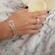Bracelet argent jonc lisse + boule